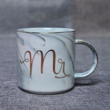 Purchase Luxury Marble Ceramic Mugs Gold Plating Mrs Mr Couple Lover S Gift Morning Mug Milk Coffee Tea Breakfast Unique Porcelain Cup Straight Cup Mr Grey Intl