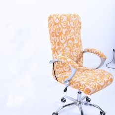 M Spandex Office Chair Cover Slipcover Armrest Cover Computer Seat Cover Stool Swivel Chair Elastic(Chair is NOT included) - intl