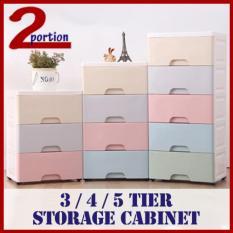 Macaron Drawer Storage Cabinet - 3 Tier