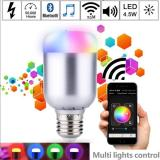 Price Magic Blue 6 0W E27 Rgb Led Light Bulb Bluetooth 4 Smart App Lighting Lamp Color Change Dimmable Ac85 265V For Home Hotel Intl Oem New