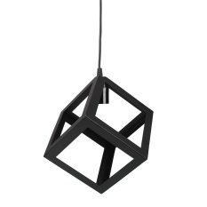 MagicWorldMall E27 Bulb Cage Guard Ceiling Pendant Square Shade Light Lampshade W/Cable - intl