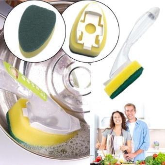 MagicWorldmall Ready Stock Clean Automatically Add Liquid Brush Press-type Dishwashing Home Garden Kitchen