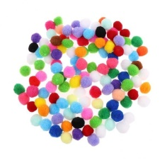 Magideal 100 Pieces Assorted Color Felt Balls Pompom Balls For Diy Crafts 25mm - Intl By Magideal.