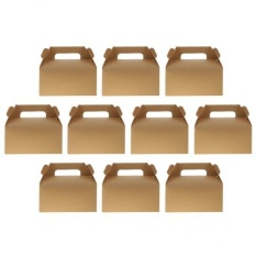 Best Offer Magideal 10Pcs Kraft Paper Bowknot Portable Cake Boxes Gift Boxes Wedding Party Diy Intl