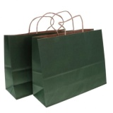 Buy Magideal 10Pcs Kraft Paper Shopping Bags Baby Shower Weddings Favors L Dark Green Intl On China