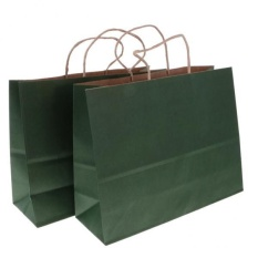Best Rated Magideal 10Pcs Kraft Paper Shopping Bags Baby Shower Weddings Favors L Dark Green Intl