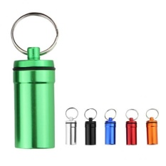 MagiDeal 6 Pieces Waterproof Pill Box Case Holder Capsule Bottle Container Keychain - intl