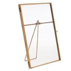 MagiDeal Metal & Glass Freestanding Photo Picture Frame Portrait Holder 10x 15 cm - intl