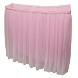 Magideal Tulle Tutu Table Skirt Tableware Wedding Party Baby Shower Decor 6Ft Pink Intl On Line