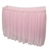Deals For Magideal Tulle Tutu Table Skirt Tableware Wedding Party Baby Shower Decor 9Ft Pink Intl