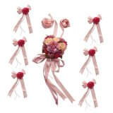 Sale Magideal Wedding Car Decoration Kits 5 Meters Ribbons 6 Large Flower Bows Pink Intl Online On China