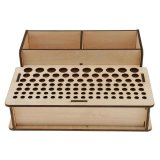 Magideal Wooden Leathercrafts Tools Rack Paint Brushes Rack Organizer Holder 2 Intl Compare Prices
