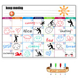 Compare Price Magnetic Colorful Whiteboard Calendar For Fridge Dry Erase Board Monthly Plan 16 11 75 Inches On China