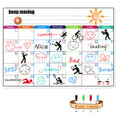 Sale Magnetic Colorful Whiteboard Calendar For Fridge Dry Erase Board Monthly Plan 16 11 75 Inches Online On China