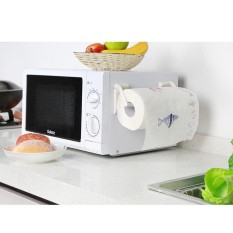 Magnetic Paper Towel Kitchen Rack Roll Holder Supply Gadget Useful Refrigerator - intl