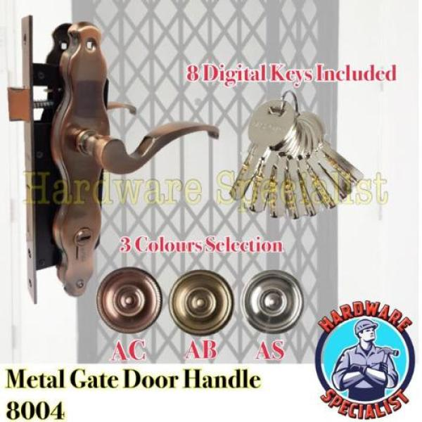 Makoto High Security Metal Gate Door Handle Lockset 8004