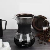 The Cheapest Manual Hand Drip Coffee Maker Glass Pot With Stainless Steel Filter Intl Online
