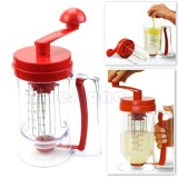 Manual Pancake Perfect Batter Dispenser Cupcakes Waffles Breakfast Mixer Mix Hot Intl Compare Prices