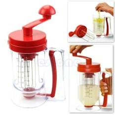 Cheapest Manual Pancake Perfect Batter Dispenser Cupcakes Waffles Breakfast Mixer Mix Hot Intl