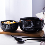 Sale Household Creative Marble Grain Instant Noodle Bowl On China