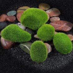 Marimo Moss Balls Artificial Grass Stone Turf Mini Fairy Garden Micro Terrarium Green 2.2inch - intl
