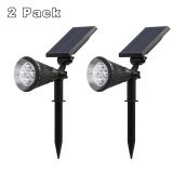 Marstec 2 Pack Solar Powered Garden Spotlight Outdoor Spot Light For Landscaping Security Ground Or Wall Mount Option 6000K Cold White Wireless Light Intl Best Buy