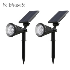 Where To Shop For Marstec 2 Pack Solar Powered Garden Spotlight Outdoor Spot Light For Landscaping Security Ground Or Wall Mount Option 6000K Cold White Wireless Light Intl