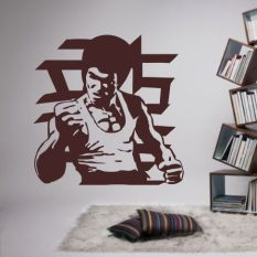 Li Xiaolong Portrait Martial Arts Decorative Stickers Background Wall Stickers Review