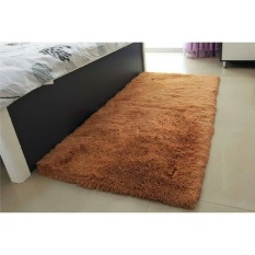 May_zz Anti-Skid 40X60cm Bedroom Dinning Room Floor Mat Soft Shaggy Rugcarpet (Brown)