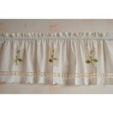 Price Comparisons May Zz Pastoral Style Shade Small Curtain Cloth Embroidered Curtainhead Curtain Kitchen Curtains Curtain Short Curtain Intl