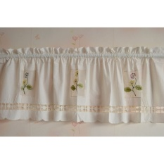 Retail Price May Zz Pastoral Style Shade Small Curtain Cloth Embroidered Curtainhead Curtain Kitchen Curtains Curtain Short Curtain Intl