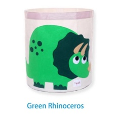 May_zz Portable Foldable Cartoon Animals Storage Bag-Greenrhinoceros - intl