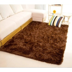 May_zz Shaggy Anti-Skid Carpets Rugs Floor Mat/Cover 80X120cm (Brown) -