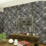 Mc 3D Fashion Creative Warmth Of The Luxurious Skin Pvc Imitation Leather Effect Wall Sticker Wallpaper Shop
