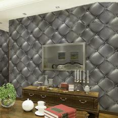 Retail Price Mc 3D Fashion Creative Warmth Of The Luxurious Skin Pvc Imitation Leather Effect Wall Sticker Wallpaper