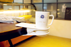 MC New Creative Drink Cup Coffee Mug Desk Lap Folder Table Holder Clip Home/Office (White) - intl