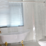 Mc Waterproof Transparent Clear White Shower Curtain 100 Peva Bath Shower Bathroom Use Intl Lower Price