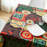 Southeast Asian Long Square Cotton Linen Tablecloth Dining Table Cloth Review