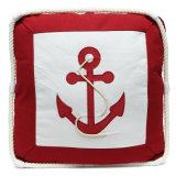 Mediterranean Style Anchor Compass Pattern Cushion Cover Throw Nautical Pillow Intl Shop