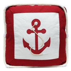 Price Compare Mediterranean Style Anchor Compass Pattern Cushion Cover Throw Nautical Pillow Intl