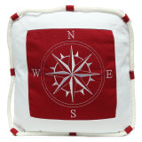 Price Mediterranean Style Anchor Compass Pattern Cushion Cover Throw Nautical Pillow Intl Singapore
