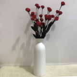 Medium And White Small Stars Flowers Into Ceramic Vase Lower Price