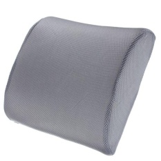 Memory Foam Lumbar Back Support Cushion Pillow For Home Car Auto Seat Gray (intl) - Intl By Crystalawaking.