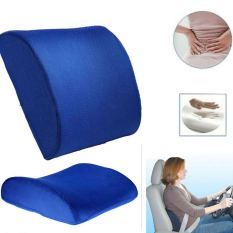 Price Memory Foam Lumbar Cushion Back Support Pillow Seat Office Chair Blue Intl Oem China