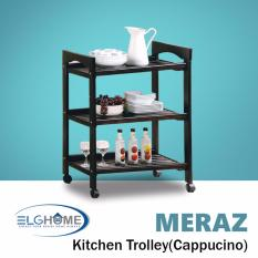 Best Rated Meraz Kitchen Trolley Cappuccino Free Install Delivery