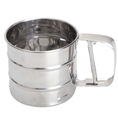 Mesh Flour Bolt Sifter Manual Sugar Icing Shaker Stainless Steel Cup Shape By Sportschannel.