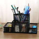Review Metal Mesh Office Desktop Organizer Pen Pencil Box Stationery Holder Case Black Oem On China