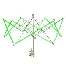 Metal Umbrella Swift Yarn Winder Hand Operated Wool Skeins String Ball Winder Holder Machine Knitting Tool - intl