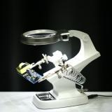 Latest Meterk Multi Functional 3X 4 5X Welding Led Magnifier Alligator Clip Holder Clamp Helping Hand Soldering Repair Mgnifying Tool Intl