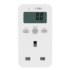 The Cheapest Meterk Uk Plug Plug In Digital Lcd Energy Monitor Power Meter Electricity Electric Usage Monitoring Socket Intl Online